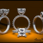 Brian Gavin's Fishtail Pave Diamond Engagement Ring Settings with Various Heads are a Big Hit…