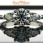 Three Stone Engagement Rings with Pear Shape Side Stones are Very Popular at Brian Gavin Diamonds…