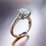 The Center Stone in Nitin's Ring is a 2 carat Brian Gavin Signature H & A