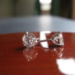 Customer Raves about her Brian Gavin Hand Made Platinum 3 Prong Martini Diamond Studs with La Pousette Backs…