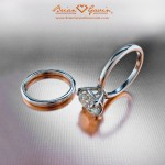 Grace Engagement Ring and Matching Wedding Band
