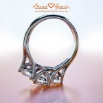 Allison's Three Stone Trellis Ring Reset