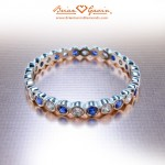 Alexis' Alternating Diamond and Sapphire Band
