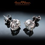 Benita's Magnificent 4 ctw Brian Gavin Signature H & A Earrings