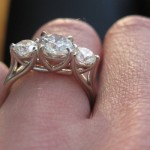 A Side View of Allison's Trellis Ring