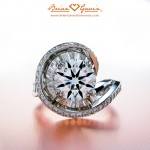 Front View of Nina's Magnificent Ideal Cut Diamond