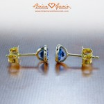 Christie's 18K Yellow Gold Bezel Sapphire Earrings