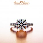 A Front View Showing the Perfect Symmetry of the Diamond