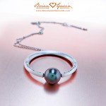 Front View of Trina's Tahitian Pearl Pendant