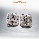 Side by Side of Two Brian Gavin Signature Modern Cushion Cuts