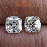 The Two Modern Cushion Cut Options on Brian's Fingers