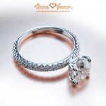 "Jose's Fishtail Pave Solitaire with ""Truth"" Head"