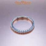 Another View of Kelly's Fishtail Pave Band