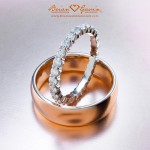 Rose Gold Comfort Fit and Dream Full Eternity Band