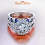 Eric's Kristin E-ring and Amethyst and Brian Gavin Signature Melee Band