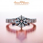 Perfect Symmetry in Eloise's 0.77 ct Brian Gavin Signature H & A