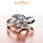 Unique Custom Diamond Engagement Ring Highlights Brian Gavin's Creative Talents…