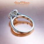 """Another View of the """"Halo"""" Engagement Ring"""