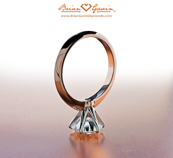 14K Rose Gold Shank with Platinum Head