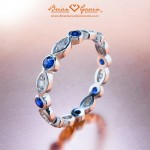 Jeanette's Diamond and Sapphire Eternity Band