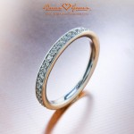 Jessica's Platinum Diamond Micro Pave Eternity Band