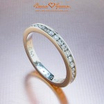 Clement's Platinum Channel Set Diamond Eternity Band