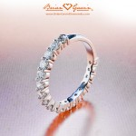 June's 18k White Gold Dream 3/4 Eternity Band