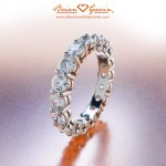 Jo's 3 ctw Platinum Open Basket Full Eternity Band