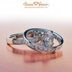 Another View of Ryan's Princess Channel Set Rings