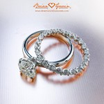 Julieann's Full Eternity U-Prong Band with her Grace Solitaire
