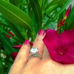 Dalia's Hand Shot with Flower - Side View