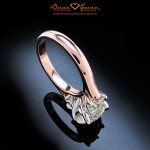 The Sleek Curves of the Rounded Rose Gold Shank