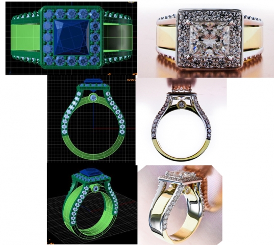The CAD and the Finished Ring