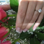 Tanja's Hand Picture of her Brian Gavin Ring