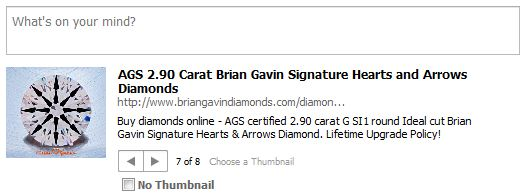 Share a Brian Gavin Diamond on Facebook