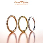 Rose Gold Eternity Band, Yellow Gold Eternity Band, White Gold Eternity Band