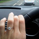 Cheyne Driving and Admiring her Beautiful New Brian Gavin Engagement Ring