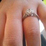 Side View of Dejana's New Engagement Ring