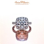 Brian Gavin Custom Square Halo for Round Diamond Ring