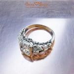 Brian Gavin Bezel Set Designer Platinum and Diamond Ring