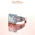Brian Gavin Designer Square Halo Diamond Ring