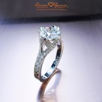 "Brian Gavin Custom Platinum ""Crown"" Setting"