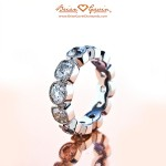 Brian Gavin Custom Full Eternity Band with Milgrain