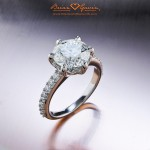 "Brian Gavin Custom ""Regal"" Diamond Engagement Ring"