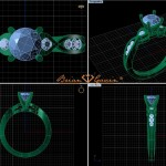 Updated CAD of Ian's Custom Brian Gavin Ring with the Integrated Head