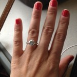 Alexa's Hand Picture of her Brian Gavin Diamond Engagement Ring