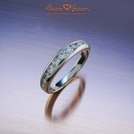 Brian Gavin's Princess Z Channel Set Diamond Half Eternity Band