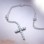 Jen's Brian Gavin Custom Diamond Cross Pendant and DBTY Chain