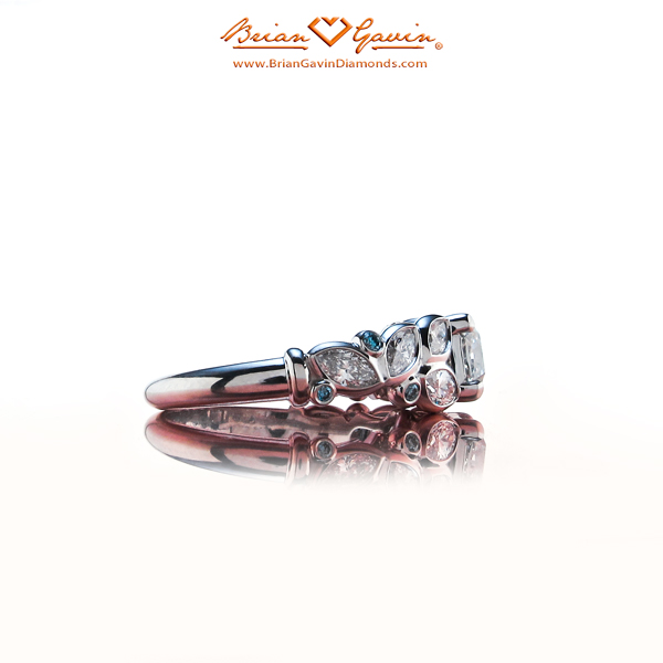 Side View of Anali's Brian Gavin Custom Quadex Diamond Engagement Ring