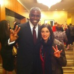 Carl Lewis and Yulia Pakhalina - Two Olympic Champions at the Houston Hall of Fame!